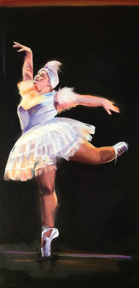 """""""Pirouette"""" original fine art by Bev Thibault"""