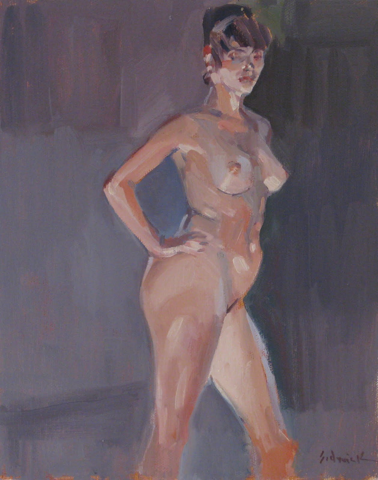 """Miranda, Standing"" original fine art by Sarah Sedwick"