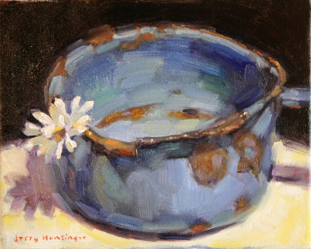 """A Single Daisy"" original fine art by jerry hunsinger"