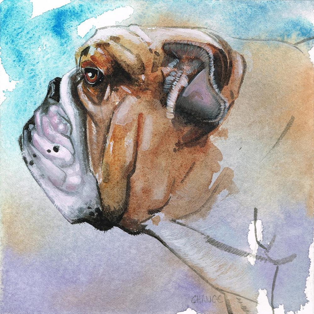 """No. 25 Bulldog"" original fine art by Annabel Chance"