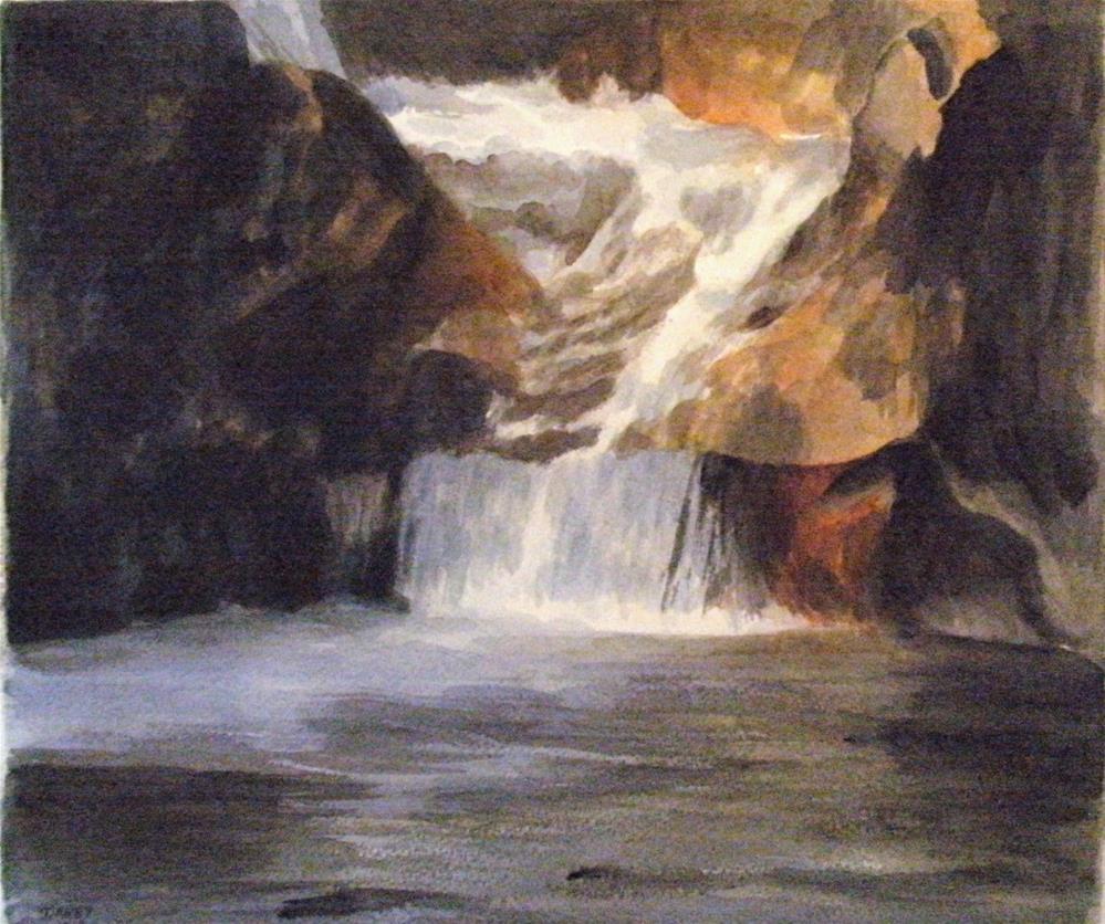 """""""Lower Chasm"""" original fine art by Lynn Darby"""