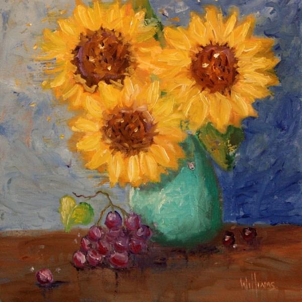 """""""Sunny Trio"""" original fine art by Sunny Williams"""