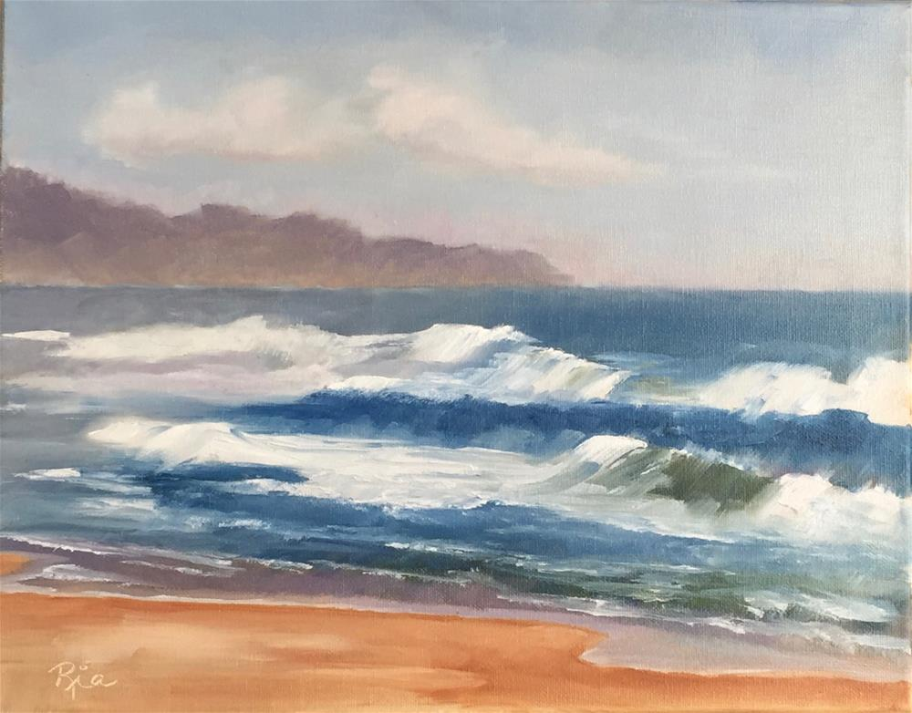 """Oregon Coast"" original fine art by Maria Reed"