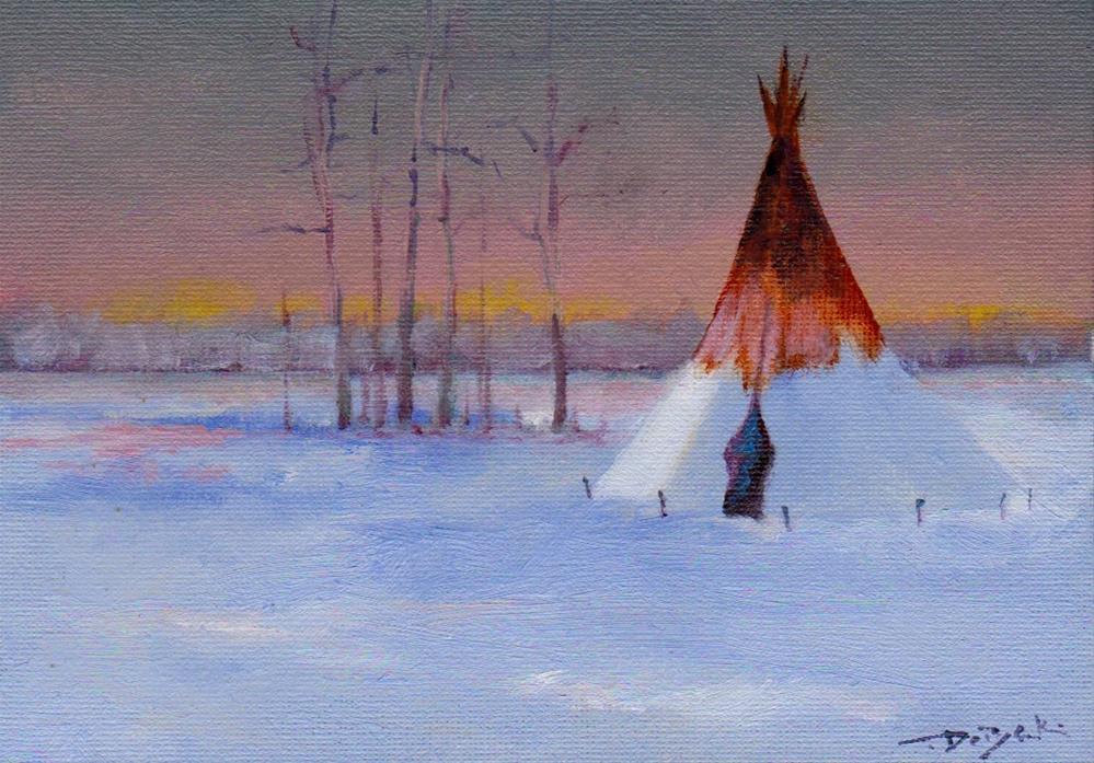 """cold winter"" original fine art by V. DeBak"