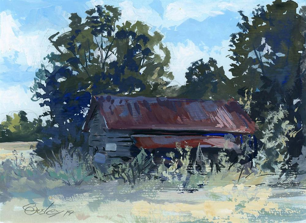"""Forgotten Shadows (Abandoned Farmhouse)"" original fine art by Chris Ousley"