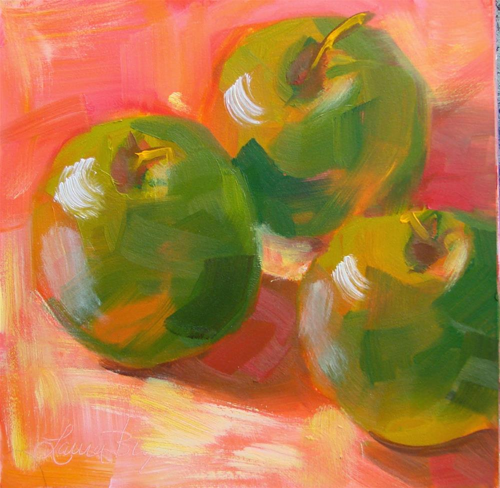 """Green Apples -149"" original fine art by Laura  Buxo"