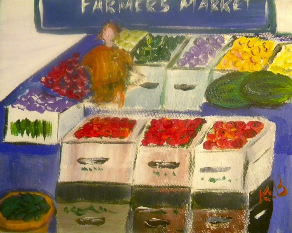 """The Farmers Market #6 30in30"" original fine art by Kimberly Balentine"