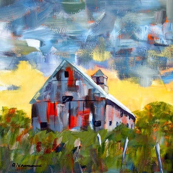 """""""Barn #18"""" original fine art by Anna Vreman"""
