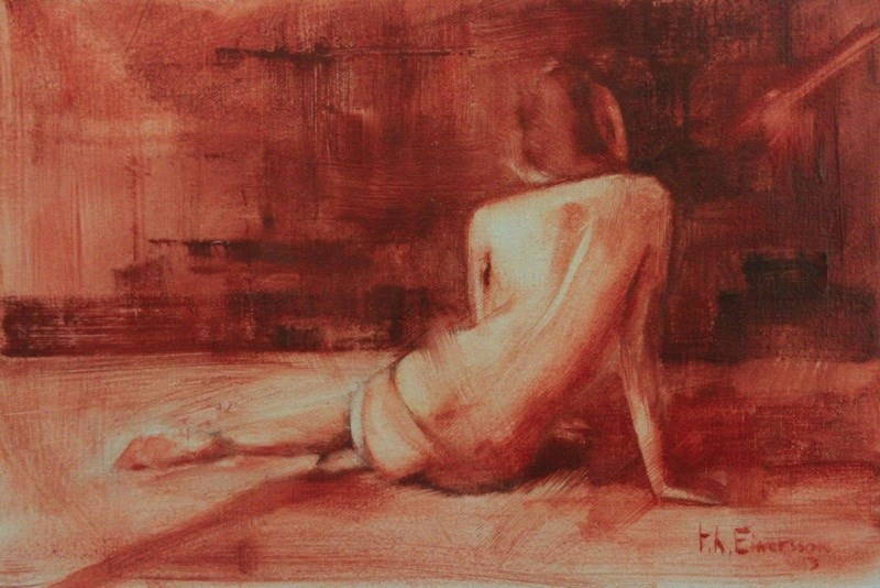 """Figure study"" original fine art by Thorgrimur Andri Einarsson"