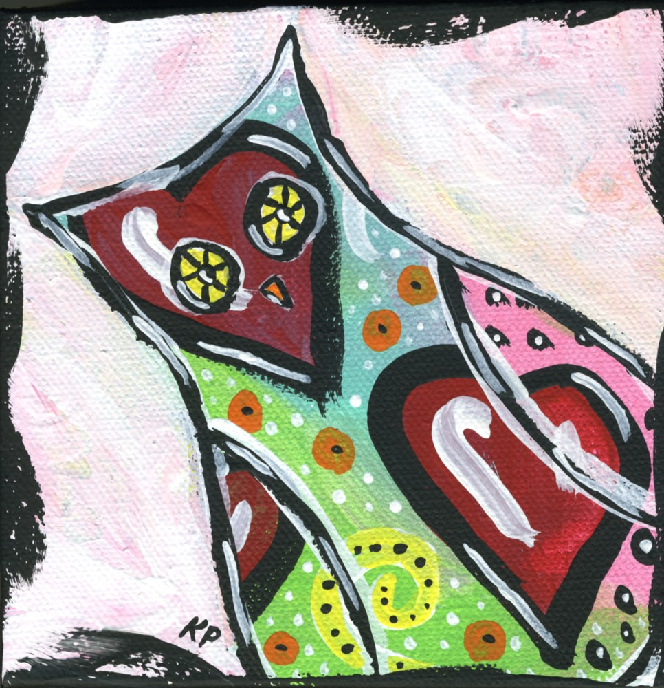 """Undercover"" original fine art by Kali Parsons"