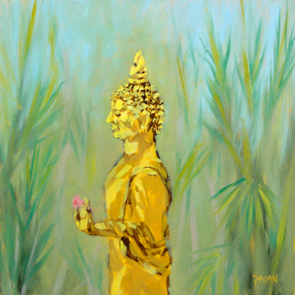 """""""Golden Buddha"""" original fine art by Dalan Wells"""