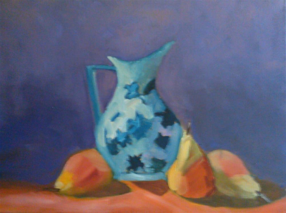 """Pitcher perfect"" original fine art by Gerri Obrecht"