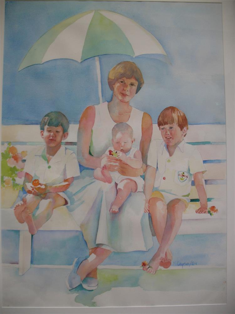 """nancy,s"" original fine art by meribeth coyne"