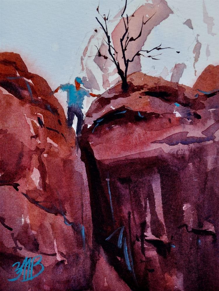 """Climbing Down Study"" original fine art by Brienne M Brown"