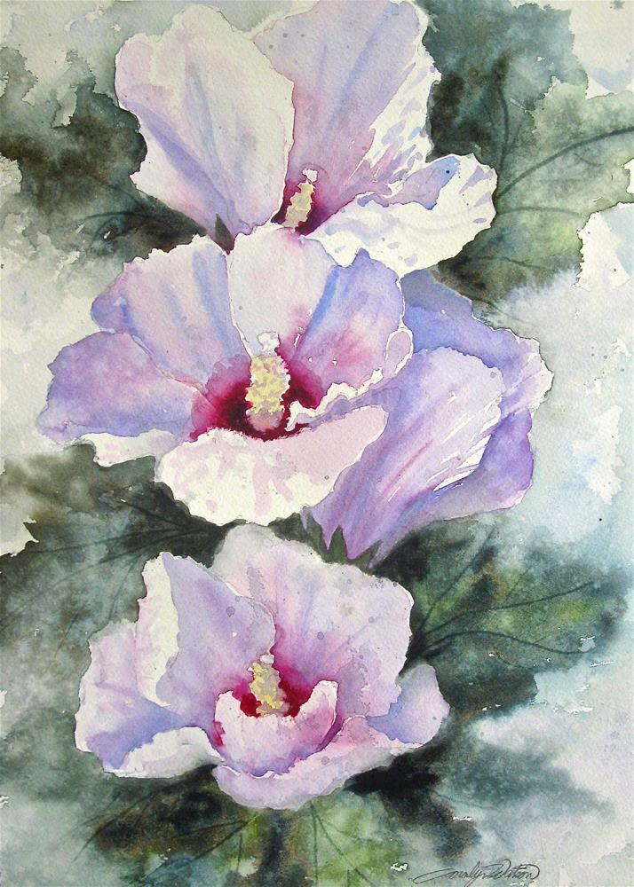 """Althea Flowers"" original fine art by carolyn watson"