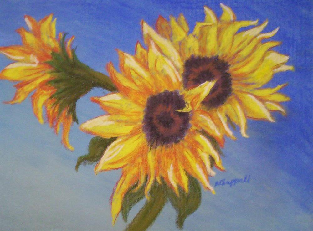 """Connie's Sunflowers"" original fine art by Becky Chappell"