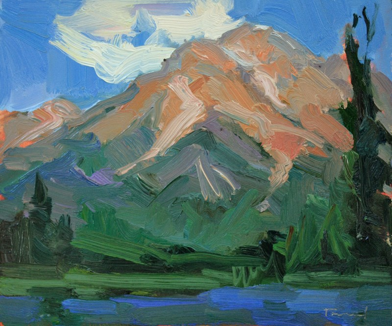 """Pyramid Mountain"" original fine art by Kathryn Townsend"