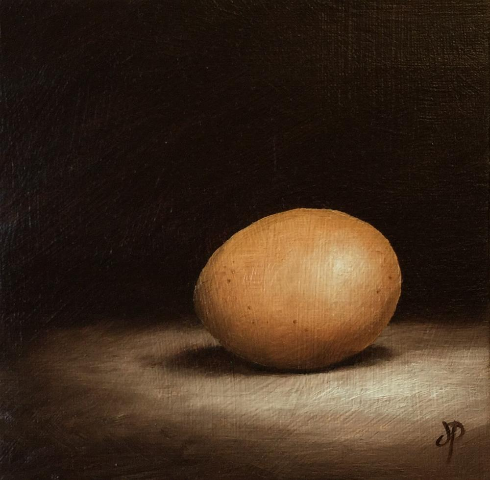 """Hens Egg"" original fine art by Jane Palmer"