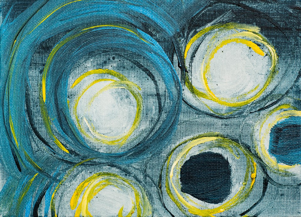 """Shooting Stars"" original fine art by Franziska Schwade"