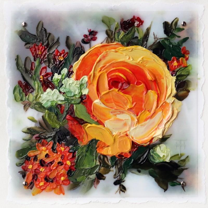 """""""Vivid Tangerine"""" original fine art by Terri Heinrichs"""