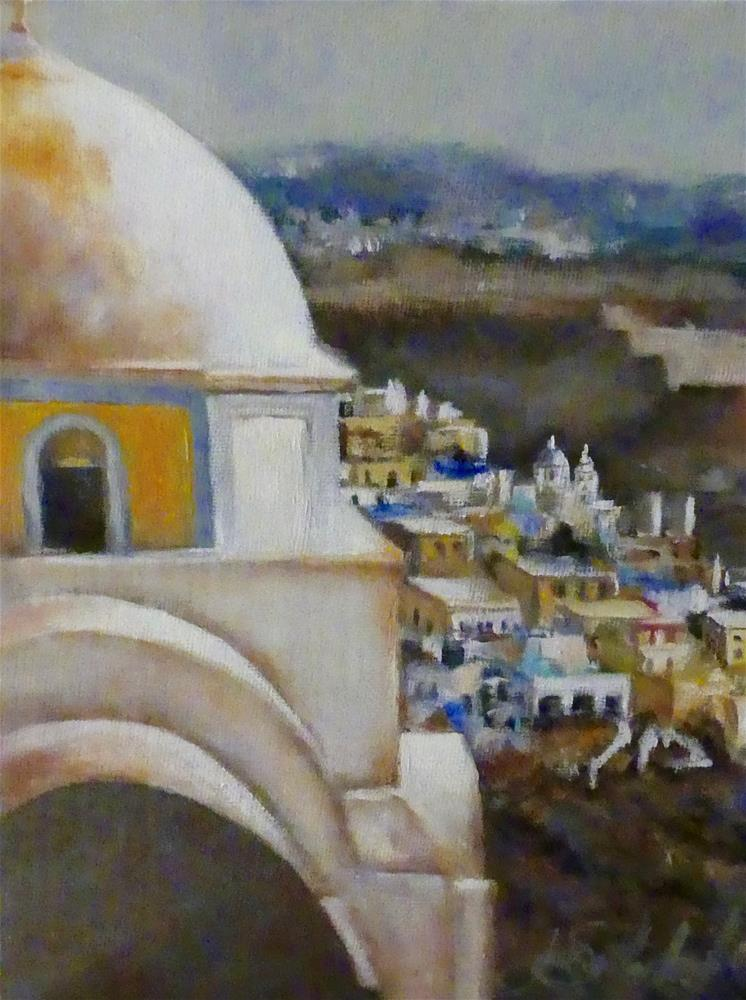 """Santorini"" original fine art by  Janet Setterland"