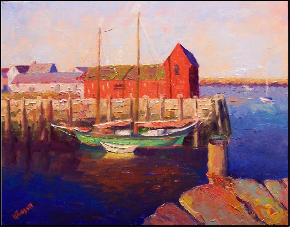 """Humble Icon, 16x20, oil on linen, Paint America Top 100, american landscapes, Rockport Massachuset"" original fine art by Maryanne Jacobsen"
