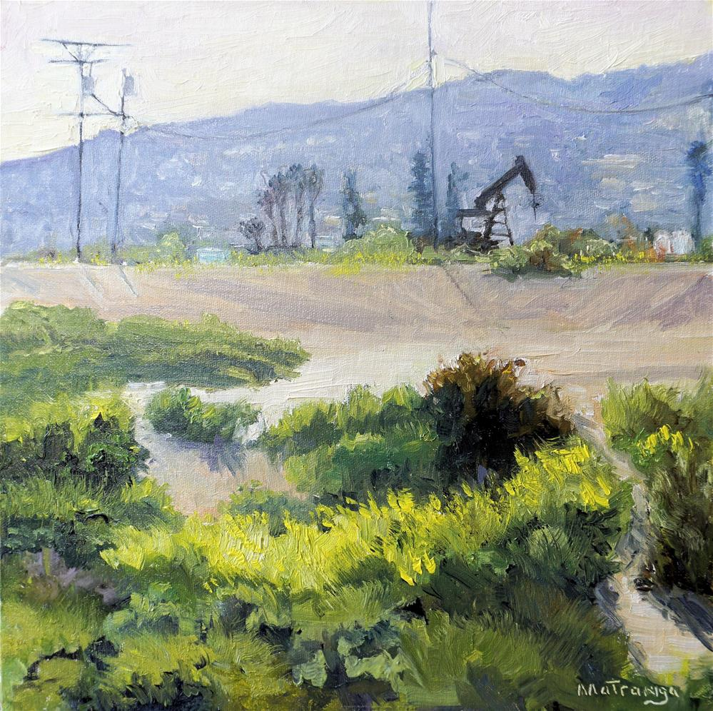 """Anaheim Hills View"" original fine art by Patricia Matranga"
