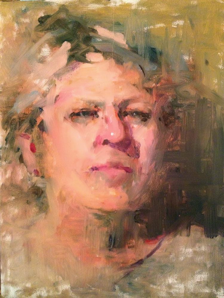 """A Couple of Portraits, 9x12 each"" original fine art by Ann Feldman"