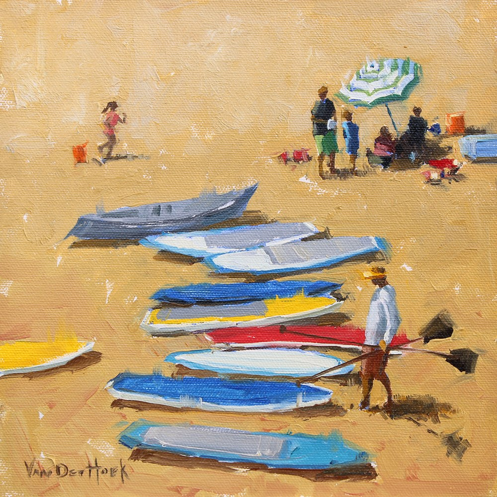 """Paddle Boards"" original fine art by Kim VanDerHoek"