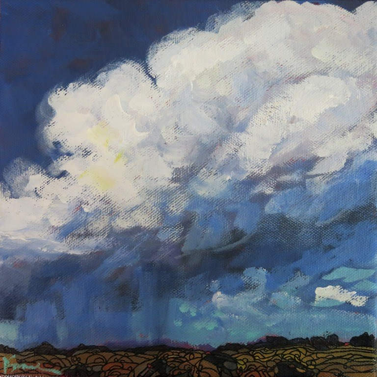"""untitled thunderstorm"" original fine art by Dee Sanchez"