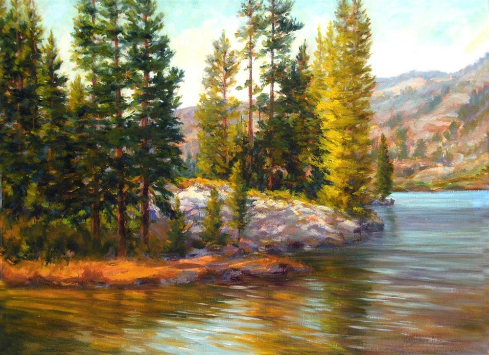 """SALMON LAKE"" original fine art by Dj Lanzendorfer"
