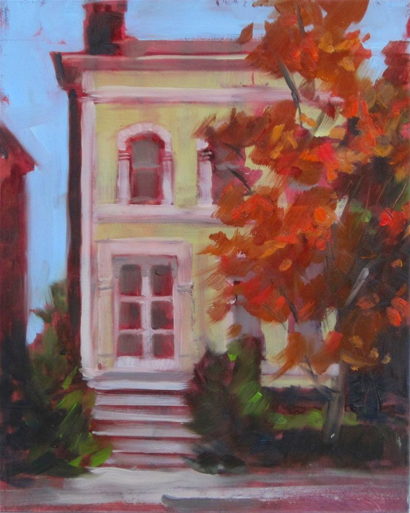 """Plein air at Lafayette Park yesterday"" original fine art by Sandy Haynes"