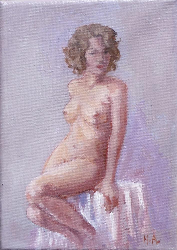"""""""Petite Nude"""" original fine art by Helene Adamson"""