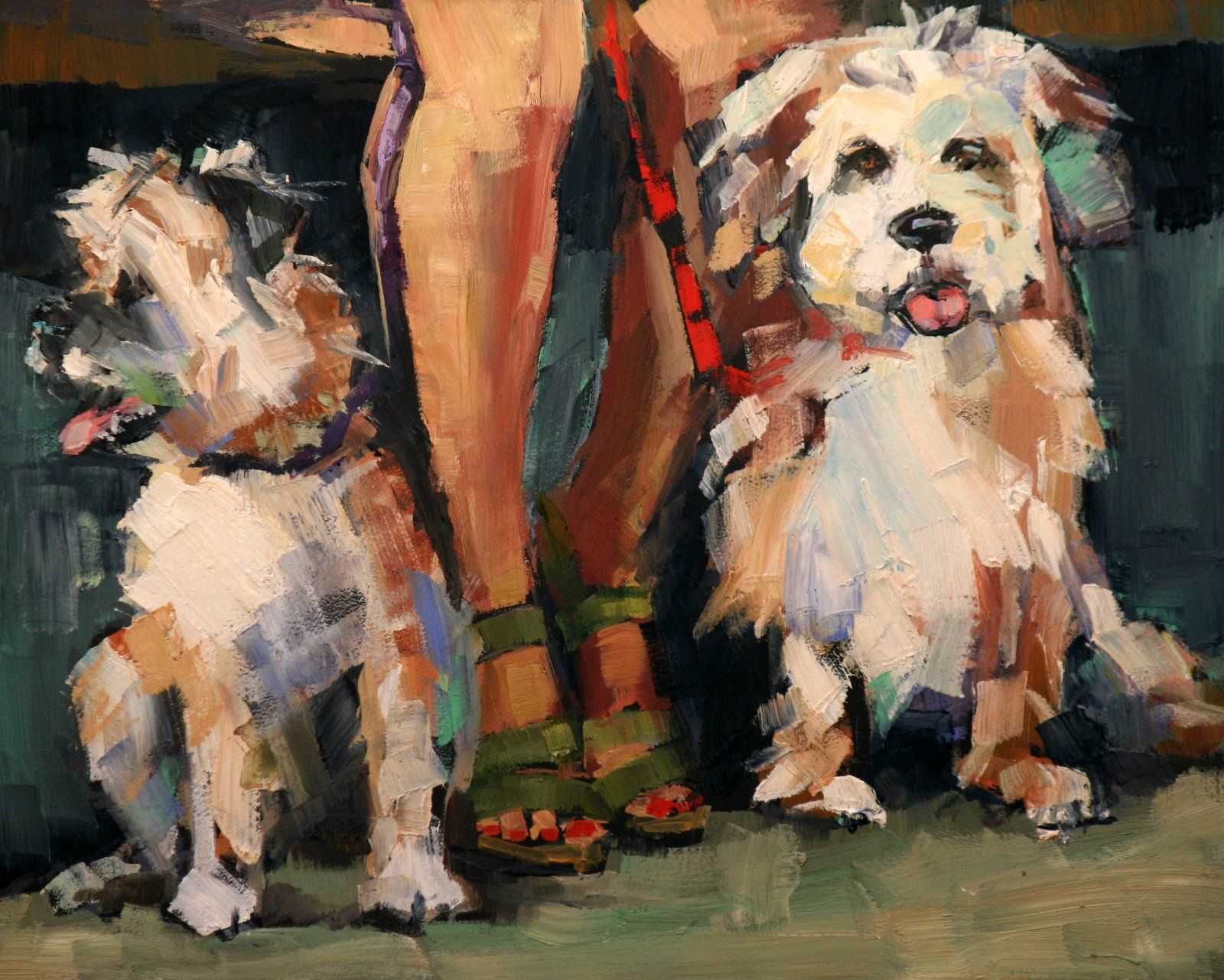 """red's rovers"" original fine art by Carol Carmichael"
