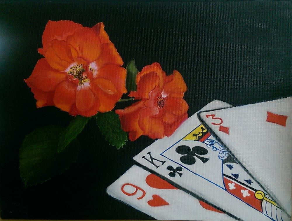 """Roses,cards"" original fine art by Irina Chekhovtsova"