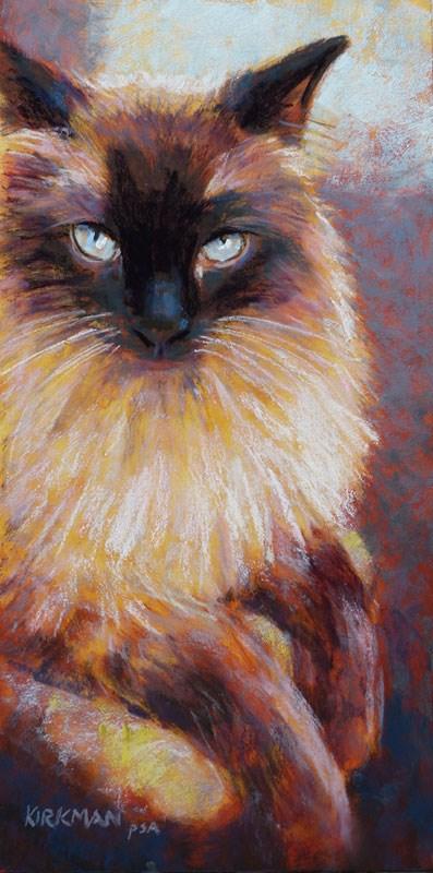 """Prince (the cat)"" original fine art by Rita Kirkman"