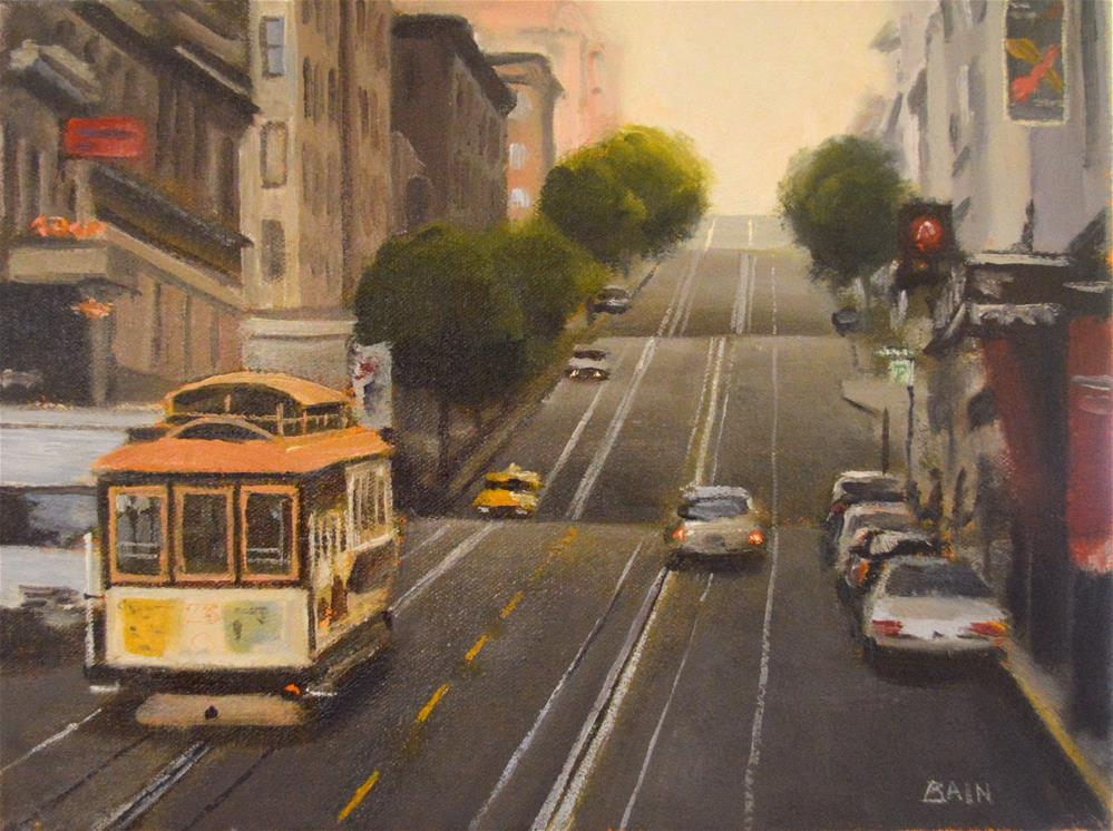 """San Francisco Sunrise"" original fine art by Peter Bain"