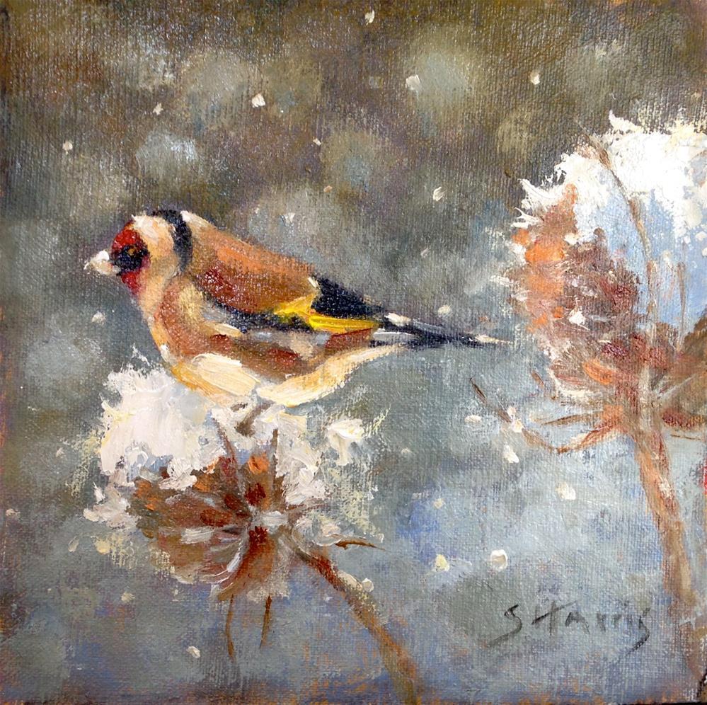 """Winter Activities"" original fine art by Sandra L Harris"