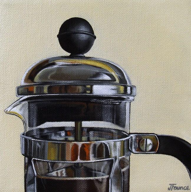 """French Press Study"" original fine art by Jelaine Faunce"