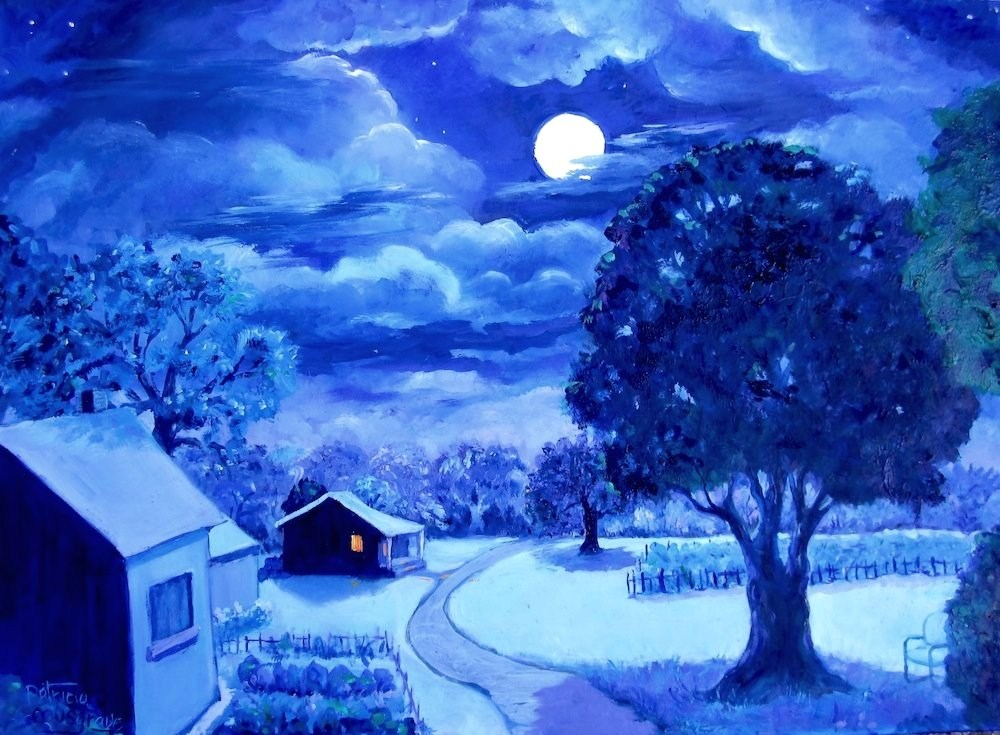"""The Quiet of the Night"" original fine art by Patricia Musgrave"