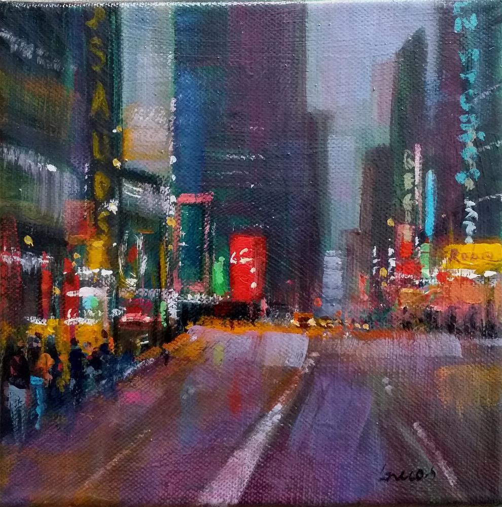 """New-York"" original fine art by salvatore greco"
