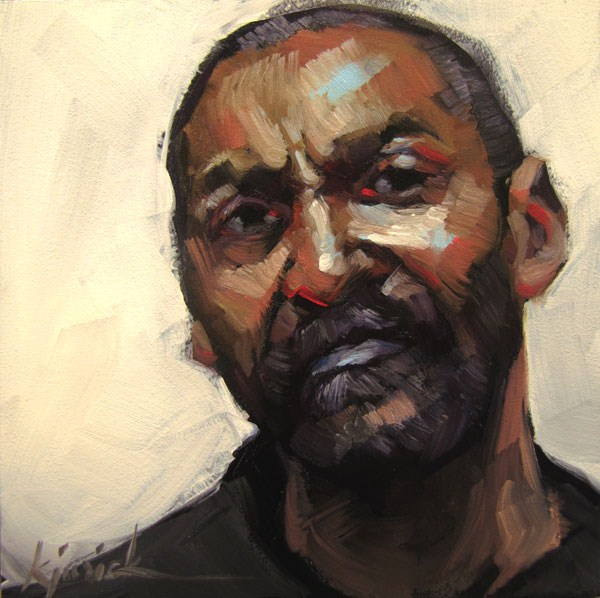 """200 Faces, No. 108"" original fine art by Karin Jurick"
