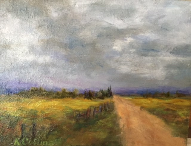"""Antelope Flats Road"" original fine art by Kathy Collins"