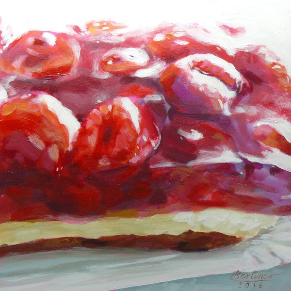 """063 Himbeerkuchen No.5"" original fine art by Anja Berliner"