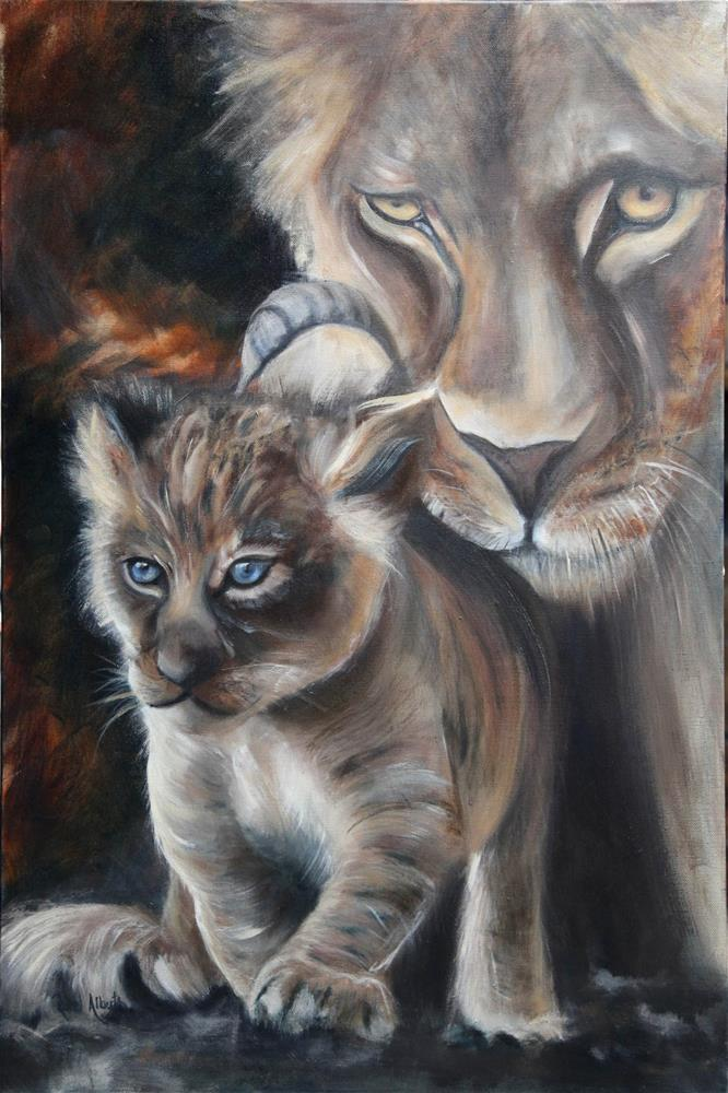 """Protective"" original fine art by Ronel Alberts"