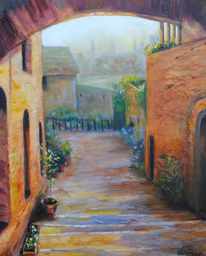 """Light on the Terrace"" original fine art by Nan Perry"