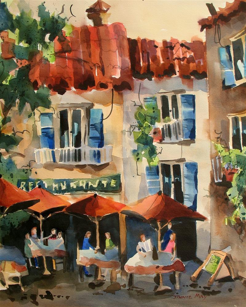 """Plaza de la Naranjos"" original fine art by Jinnie May"