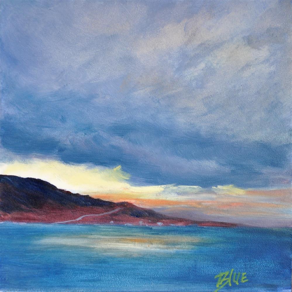 """Coastal Daybreak"" original fine art by Jacquelyn Blue"