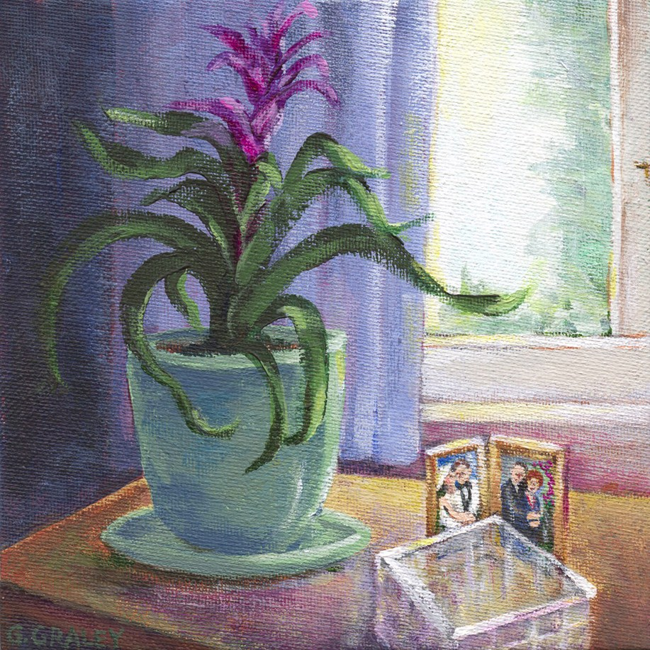 """Window Nook"" original fine art by Geri Graley"