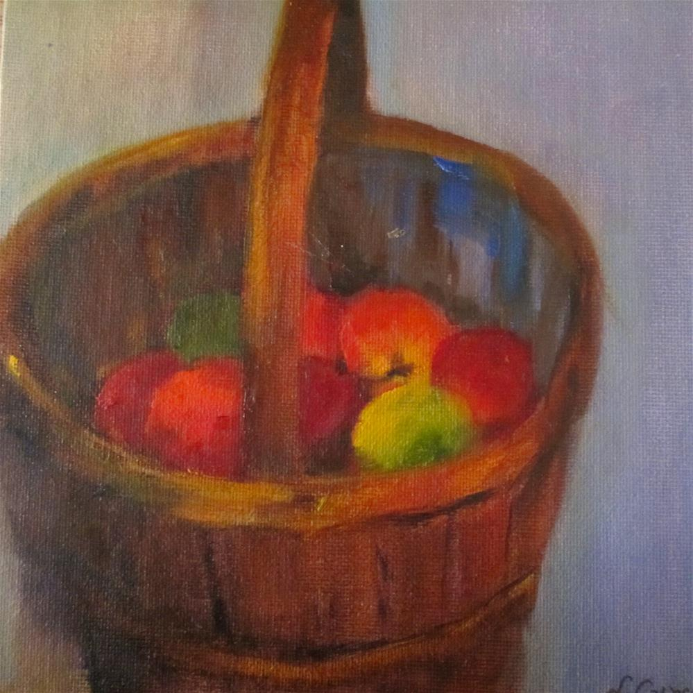 """A Bushel and a Peck"" original fine art by Linda Carney"